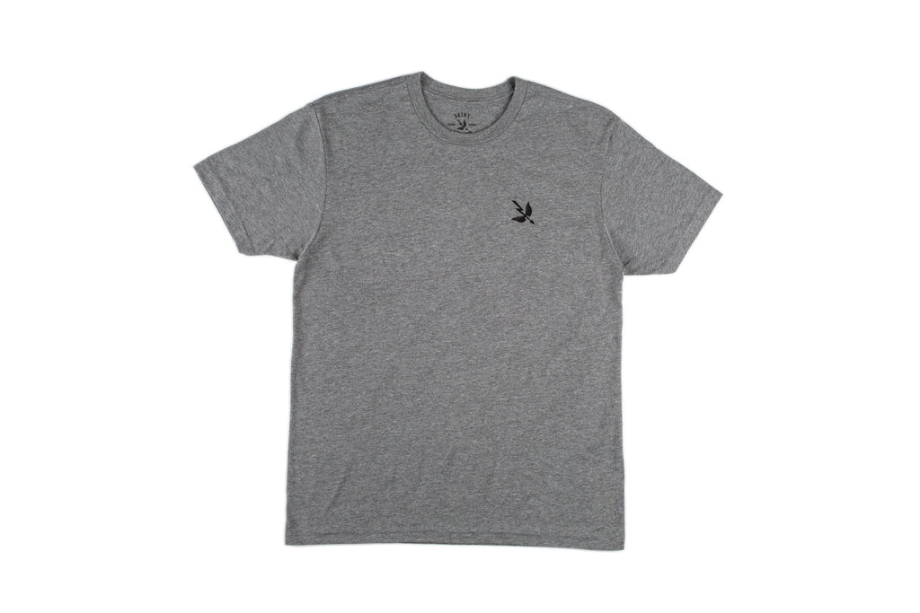 Work Hard S/S Tee - Heather Grey