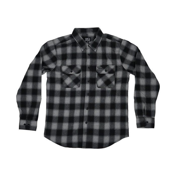Brewer Flannel - Black Grey