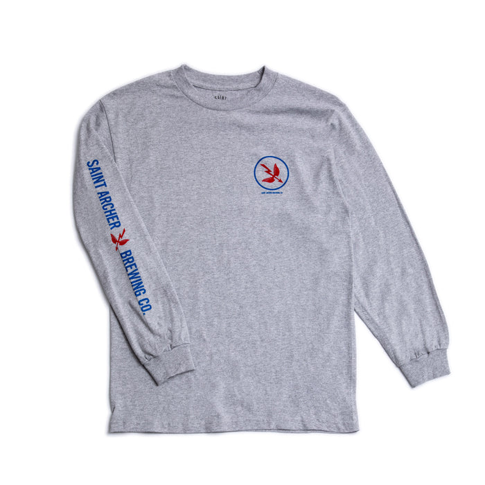 Circle Arrow Heather Grey L/S