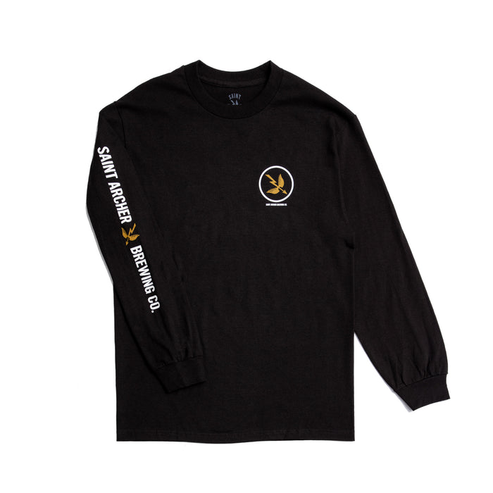 Circle Arrow Black L/S