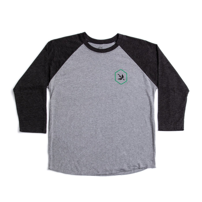 3/4 Hex Green Heather Grey/Black