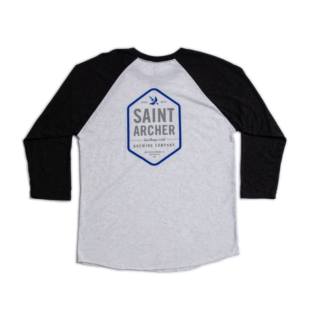 3/4 Hex Blue Heather White/Black