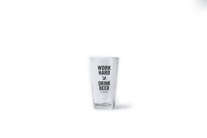 WHDB Logo Pint Glass