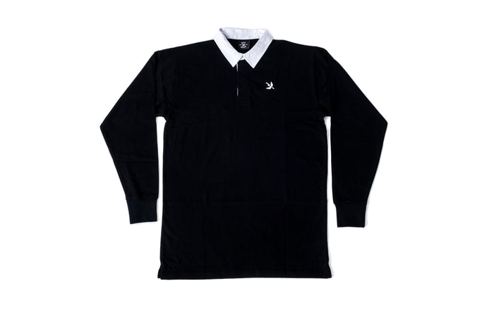 Arrow Rugby Polo L/S - Black