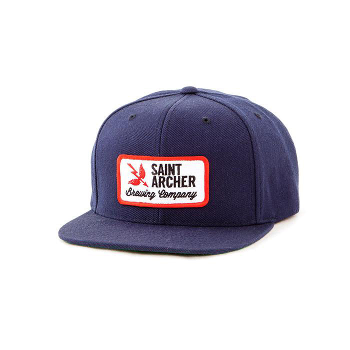 BREW PATCH SNAPBACK - NAVY / RED / WHITE