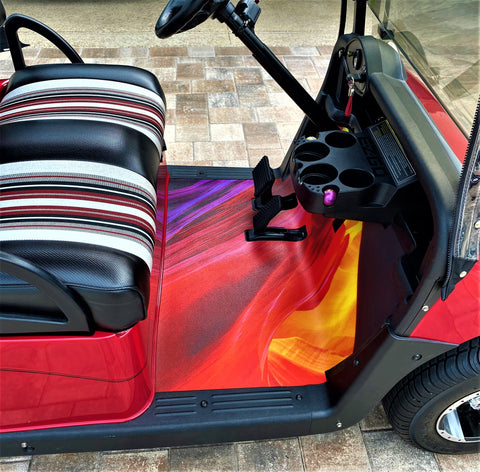 Golf cart floor mat