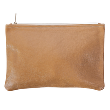 Latte Leather Clutch
