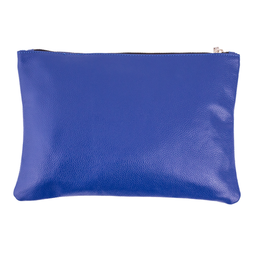 Cobalt Leather Clutch