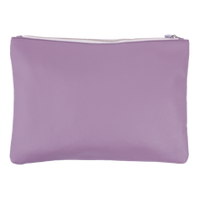 Lilac Leather Clutch