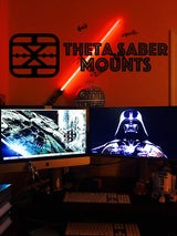 Character Collection Saber Wall, Desk, Stand, All-in-One Display - Theta Saber Mounts