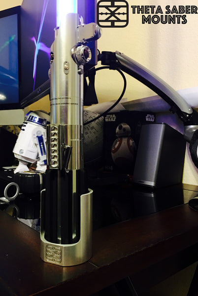 Lightsaber Knight Collection Wall, Desk, Stand, All-in-One Mount - Theta Saber Mounts