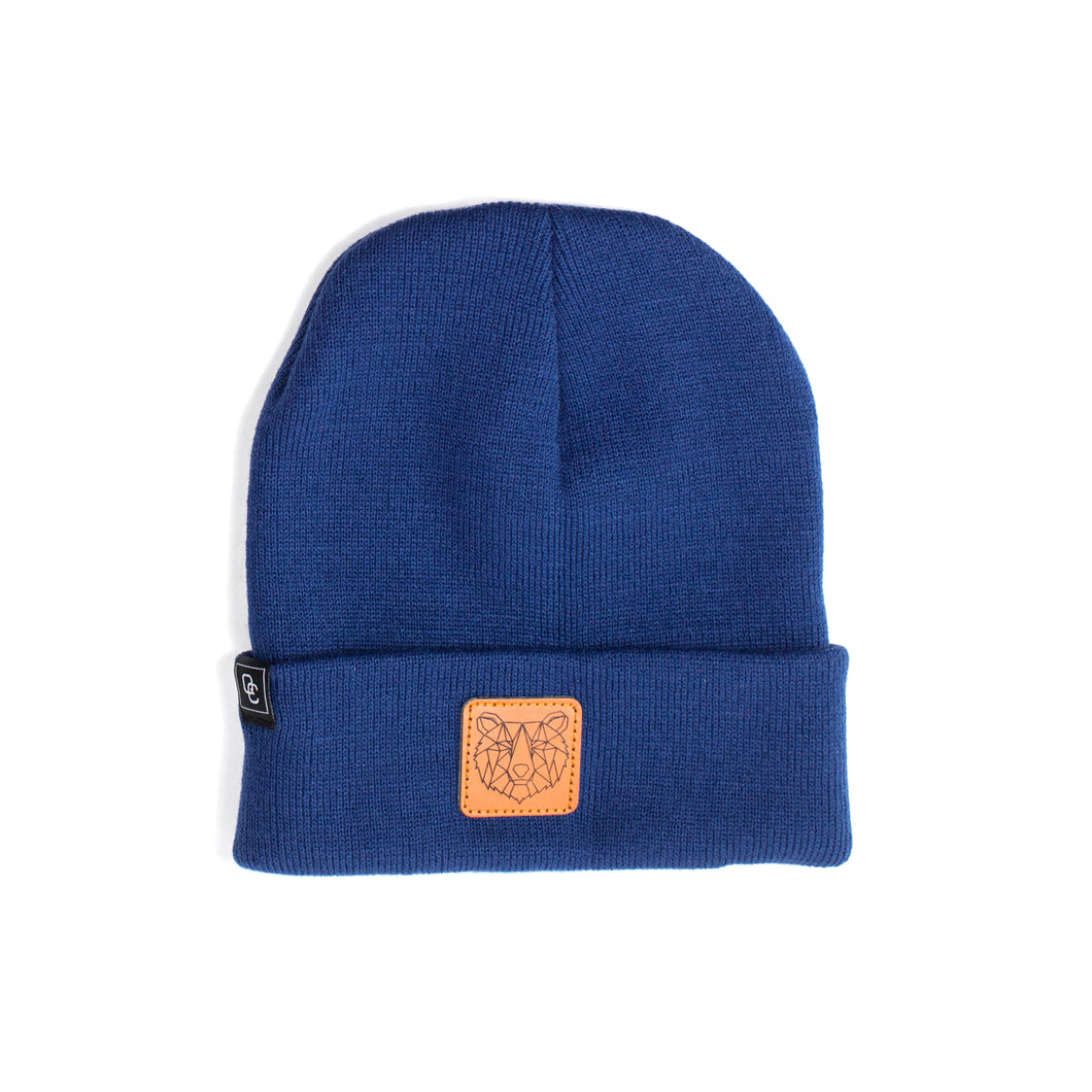 Bear Beanie Navy Blue