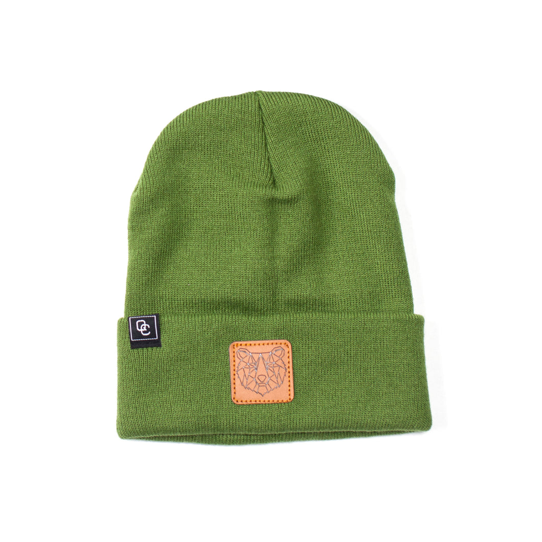 Bear Beanie Army Green