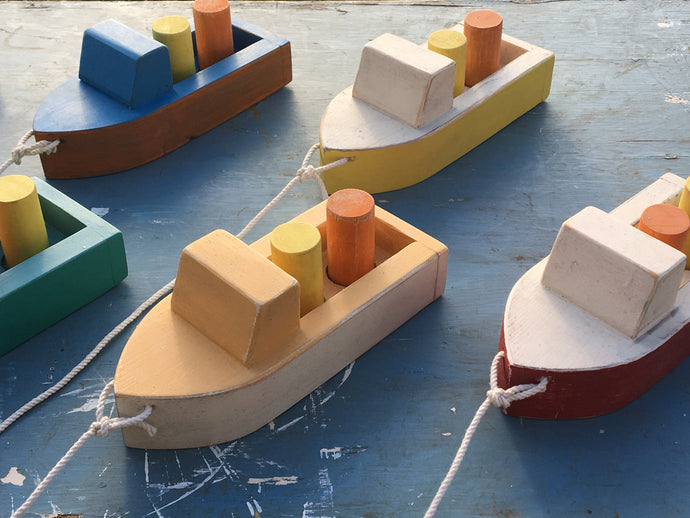 Wooden Lobster Boat Toy
