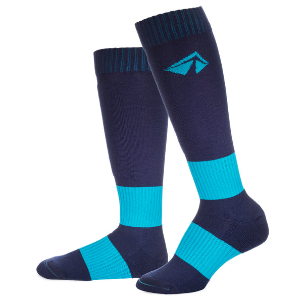 Ski-Lite Performance Ski Sock - Medium/Turquoise - lift23