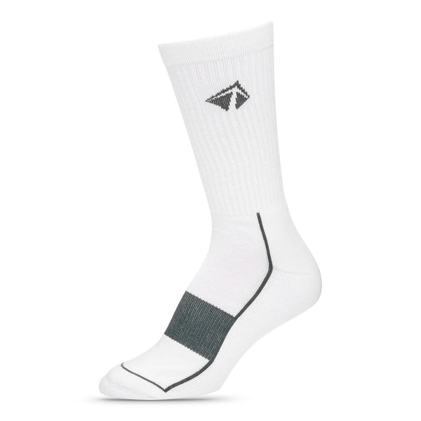 "Atacama Performance Crew Sock - ""Boulder White"" - lift23"
