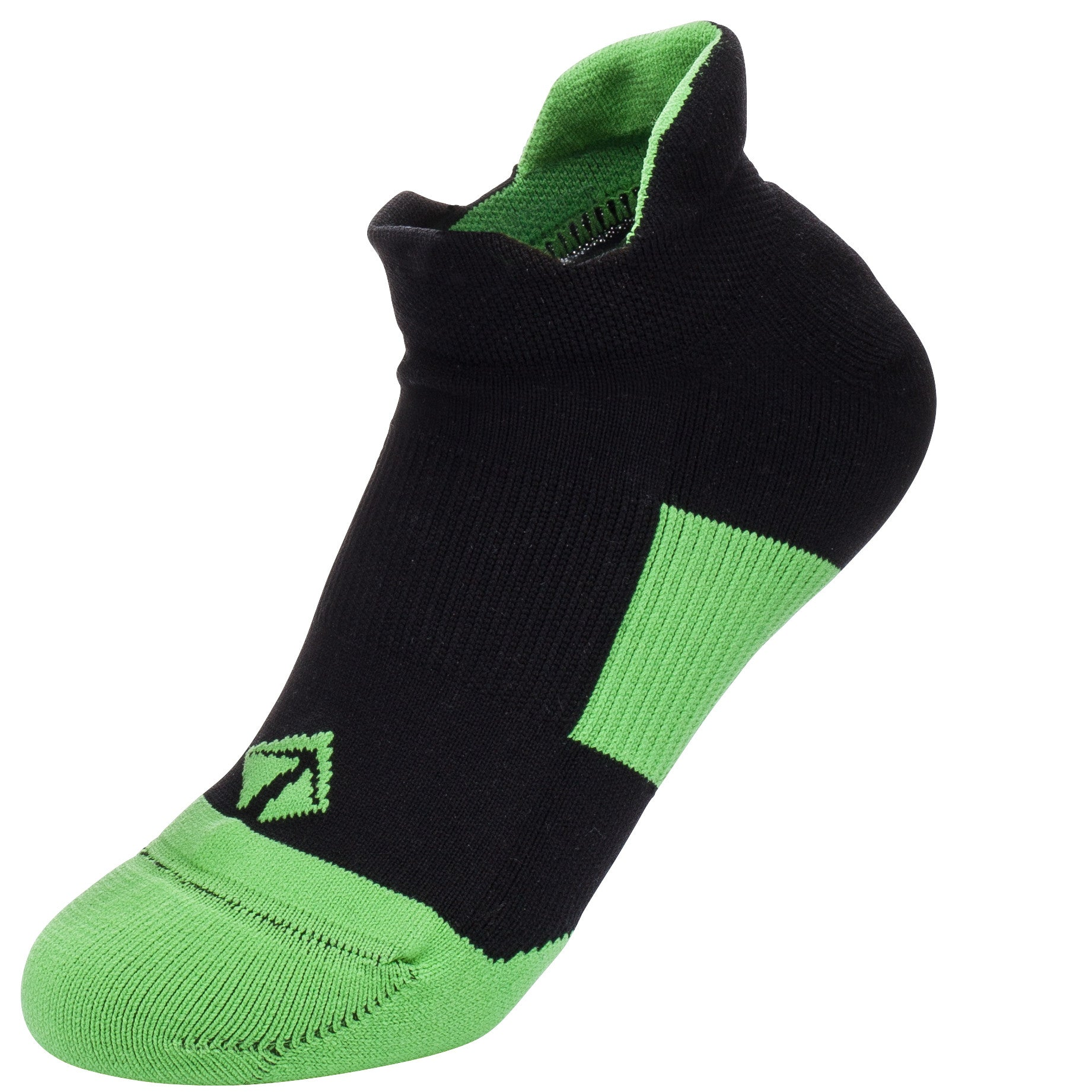 Tech-Lite Running Sock - Black & Green