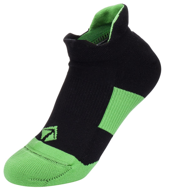 Tech-Lite Running Sock - Black & Green - lift23