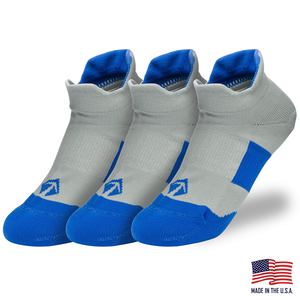 Tech-Lite Running Sock - Grey & Blue (3/pk) - lift23