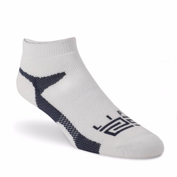 Merino Wool peds  - White & Navy - lift23
