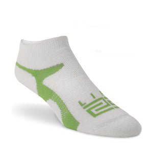 Merino Wool peds  - White & Green - lift23
