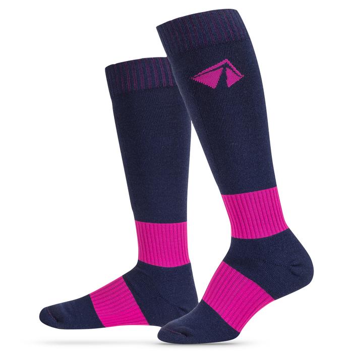 Ski-Lite Performance Ski Sock - Medium/Pink