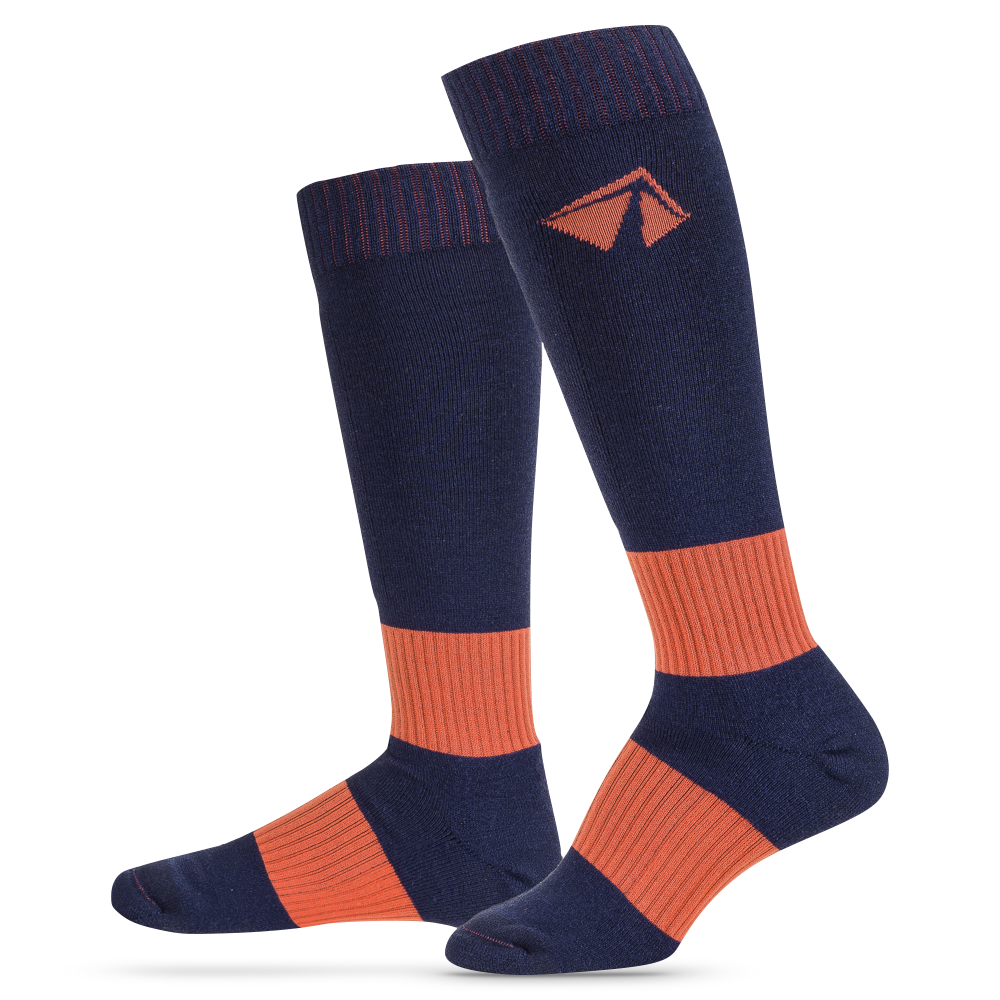 Ski-Lite Performance Ski Sock - XLarge/Orange