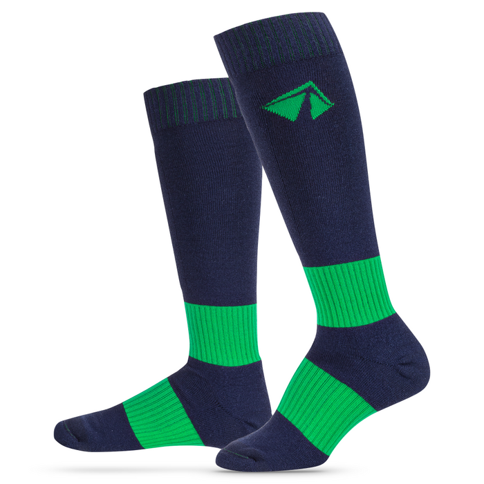 Ski-Lite Performance Ski Sock - Small/Green