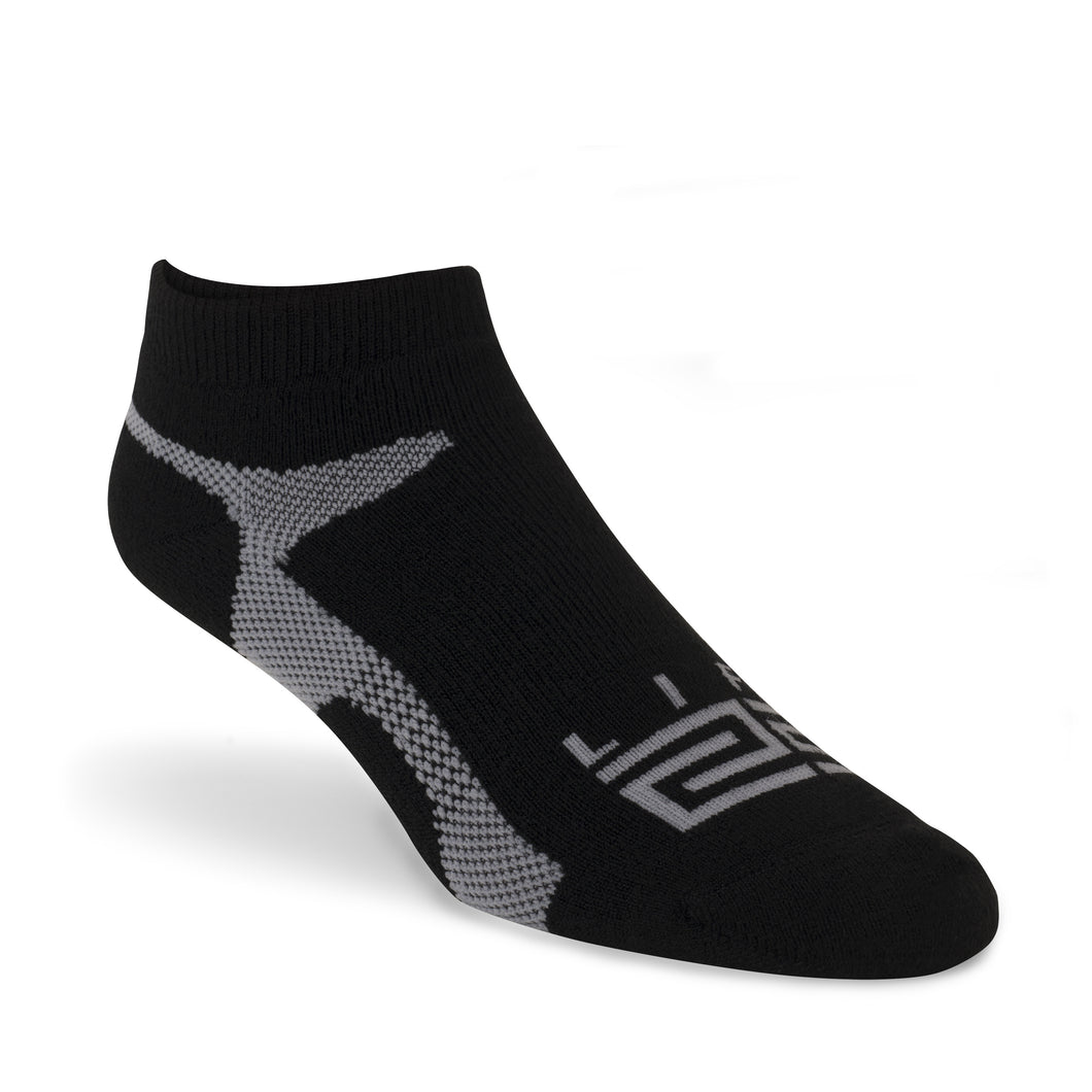 Golf Sock - Black & Grey