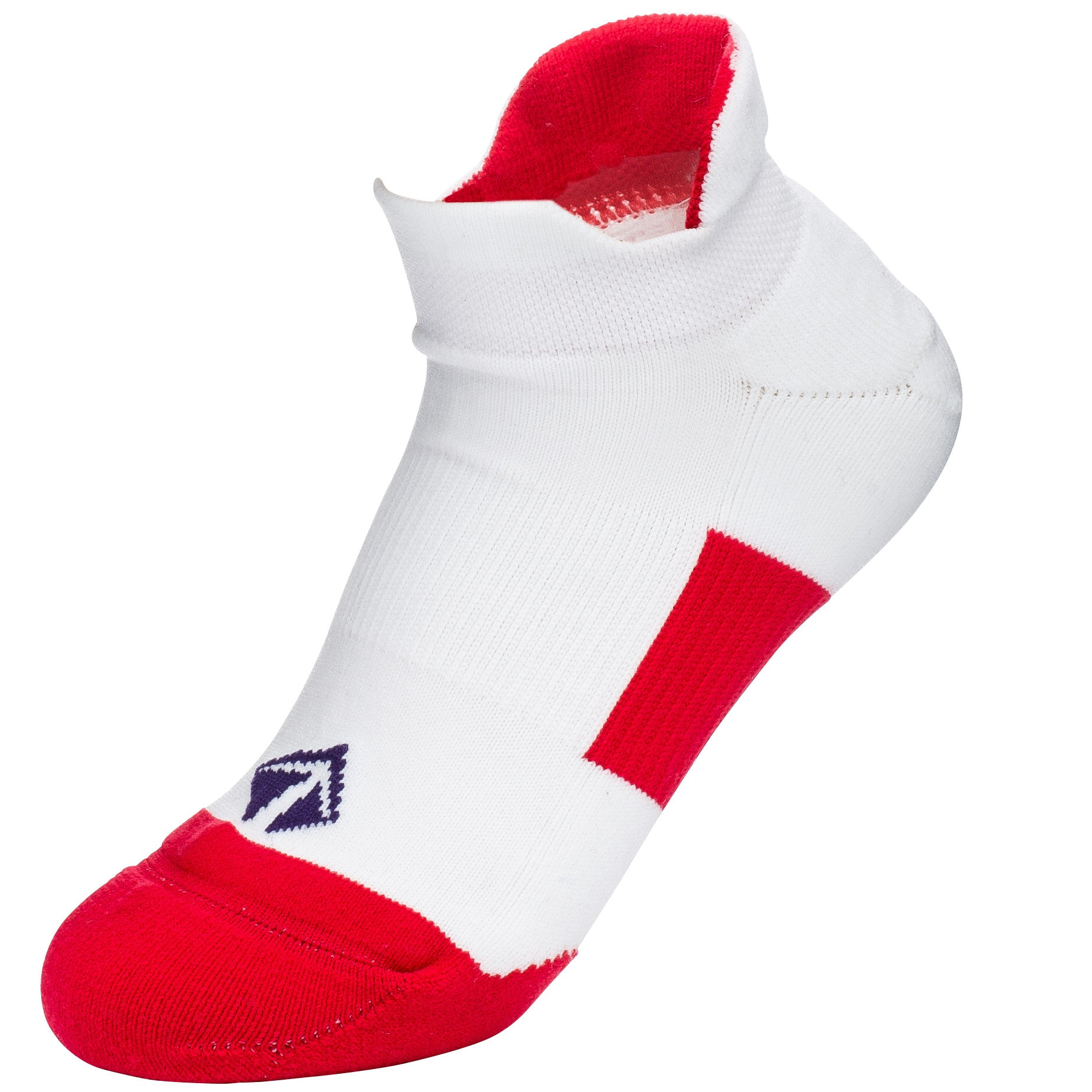 Tech-Lite Running Sock - White, Red, & Blue