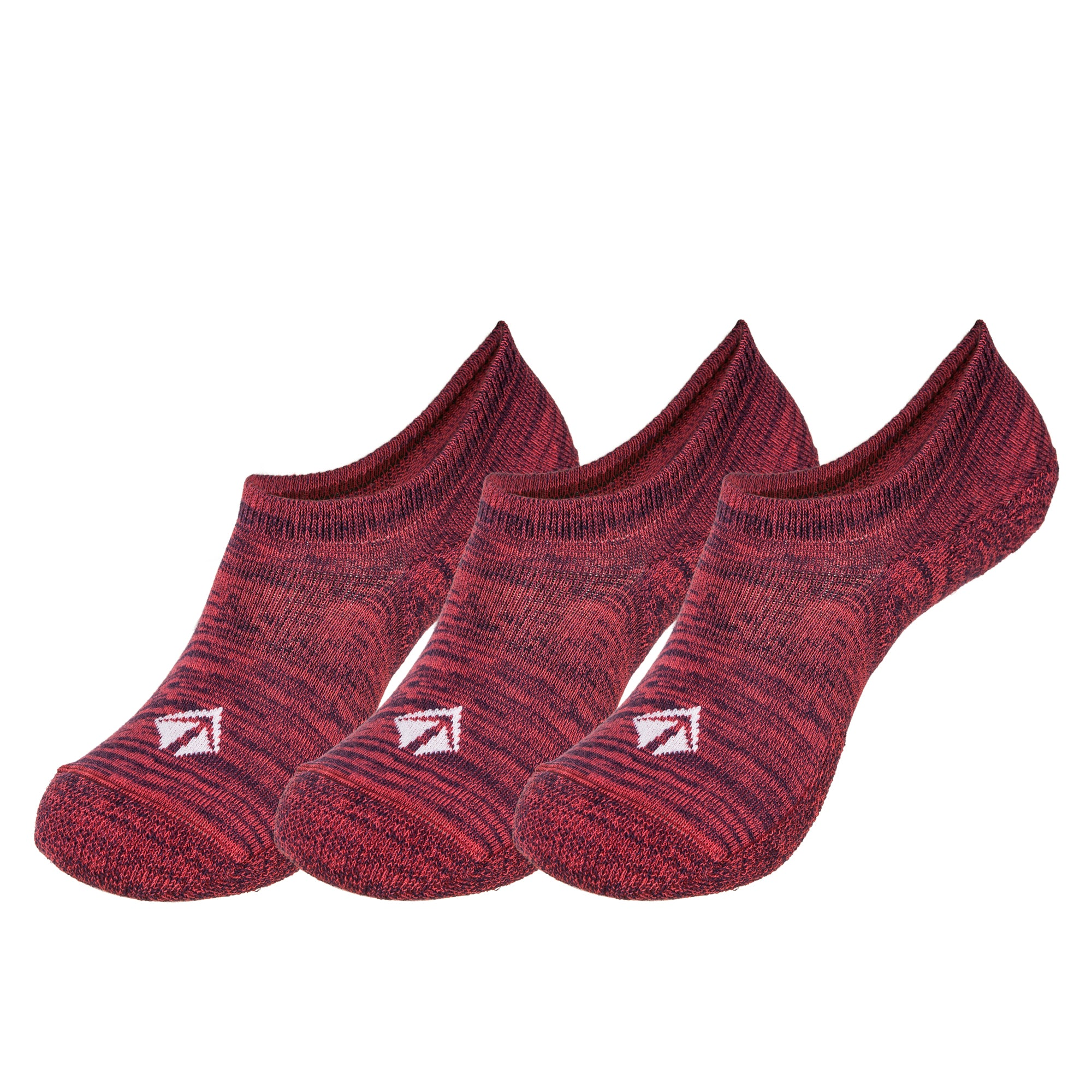 Atacama Low-cut Eco-sock (Red-Blue Marl) 3-pack