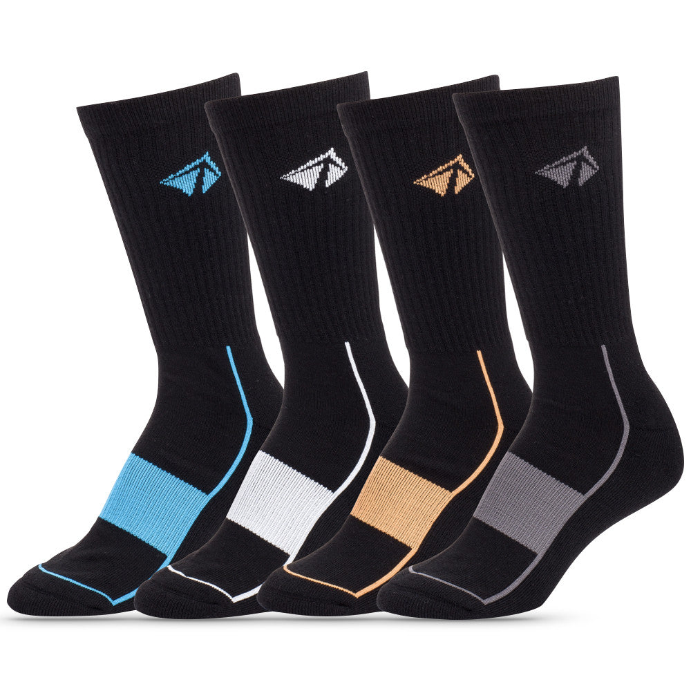 Atacama Performance Crew Sock - The Black Set (4/pk)