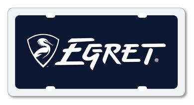 Egret Logo & Shield License Plate Insert