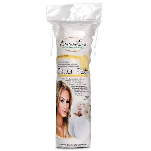 AnnaLisa Premium Cotton Pads- 80 Count