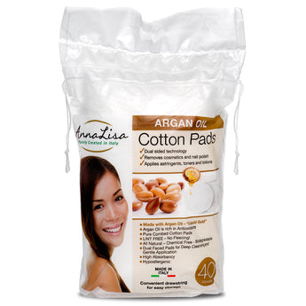 AnnaLisa Argan Oil Cotton Pads- 40 Count