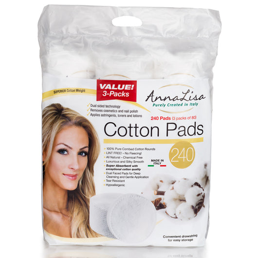 AnnaLisa Premium Cotton Pads- 240 Count