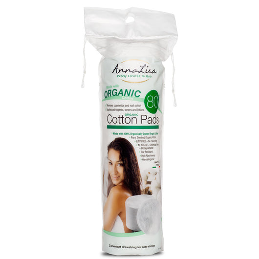 AnnaLisa Organic Cotton Pads- 80 Count