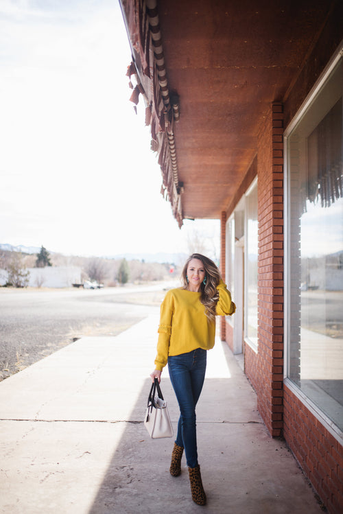 Mustard Sweater - Meadow & Magnolias