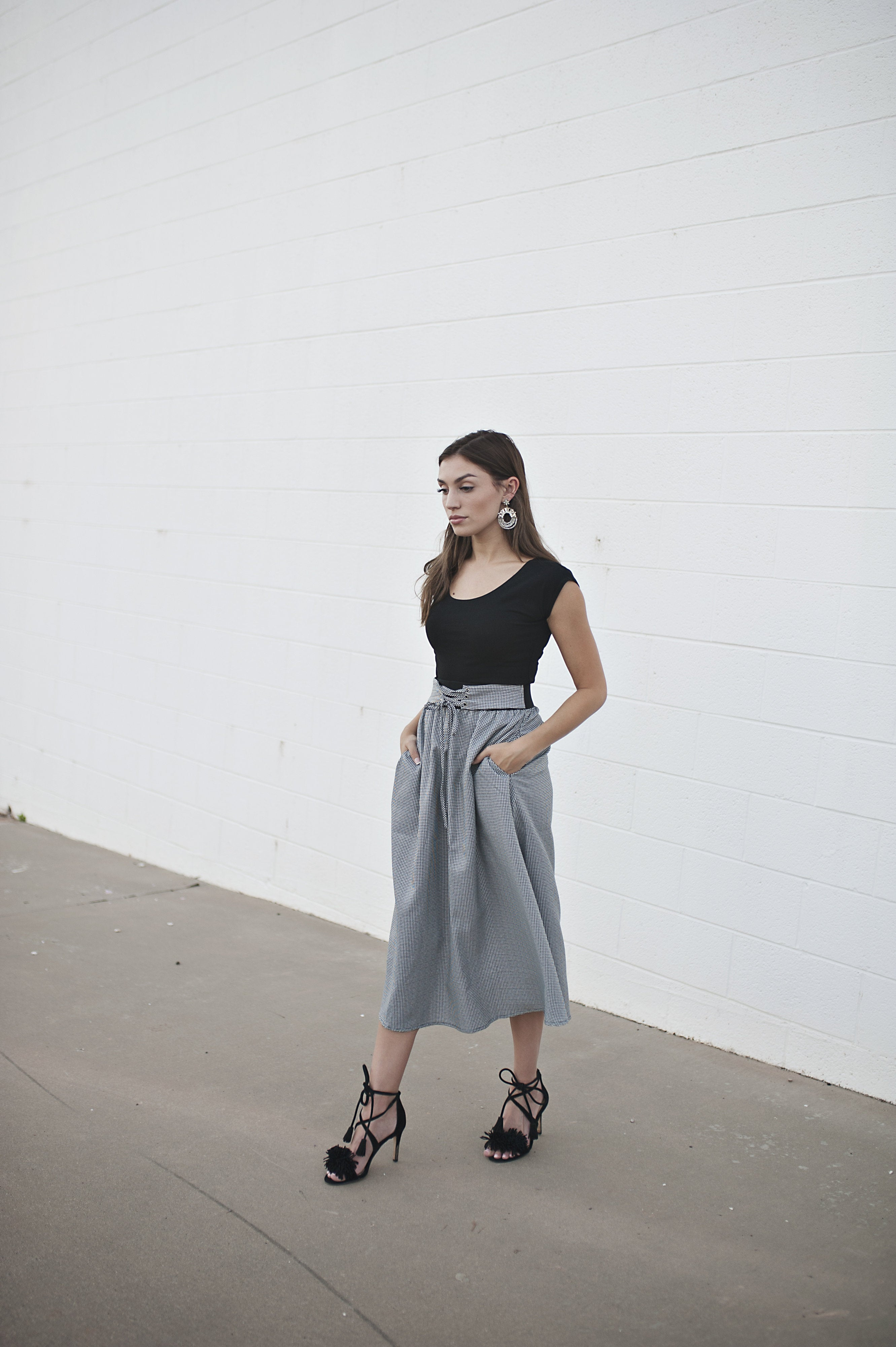 Gingham Skirt - Meadow & Magnolias
