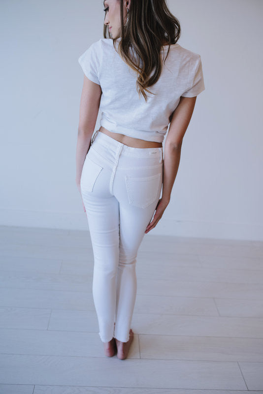 White Ripped Jeans - Meadow & Magnolias