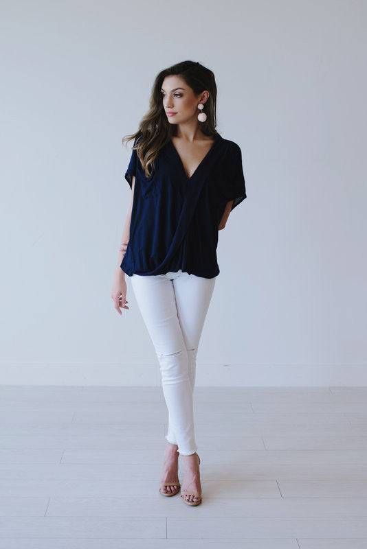Navy Top - Meadow & Magnolias