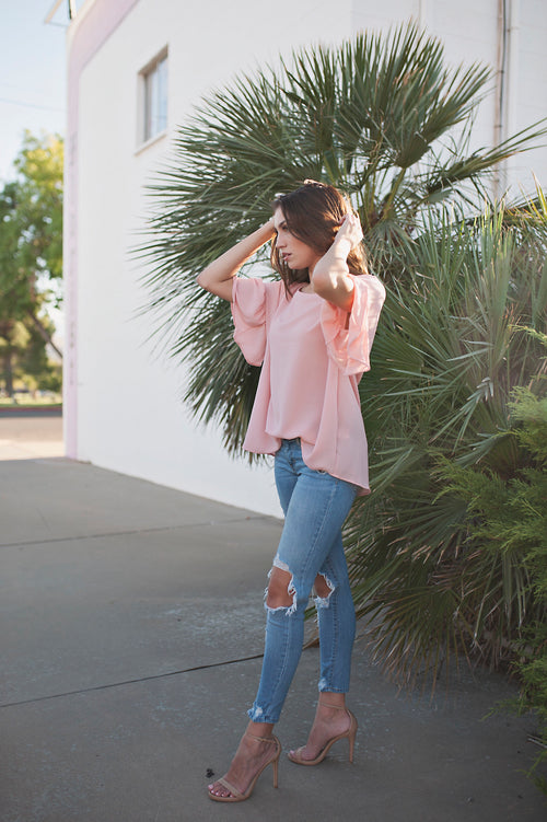 Blush Ruffle Top - Meadow & Magnolias