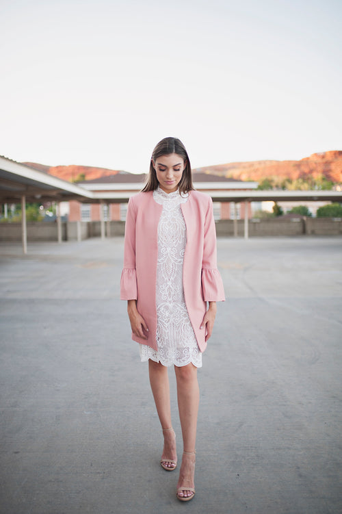 Adelaide Pink Coat - Meadow & Magnolias