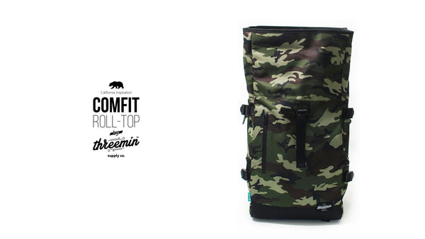 ComFit Rolltop waterproof backpack // CAMO