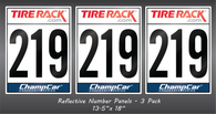 2020 ChampCar Endurance Series Number Panels