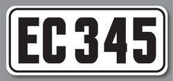 Rear Class Decal with Car Number