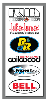 New! 2020 ChampCar Endurance Series Sponsors Decals