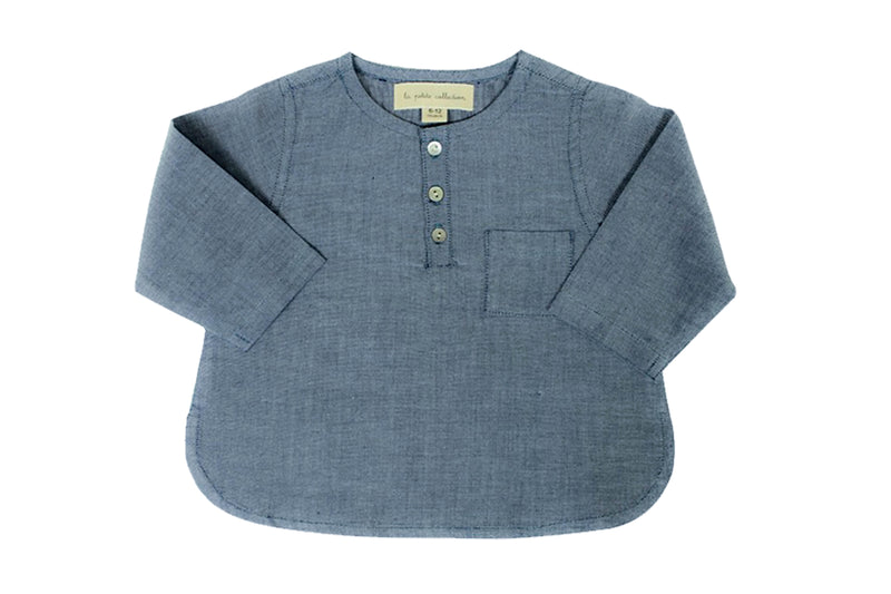 La Petite Collection Baby Clothes - Chambray Shirt