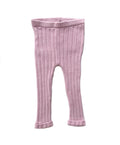 100% Pima Cotton Baby Knit Leggings