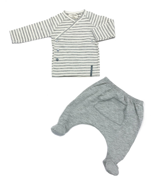 Momo + Zoe Striped Shirt and Leggings with Feet Set